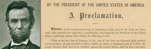 abraham lincoln and the emancipation proclamation essay Click image for close-up, click here for the text of this historical document as  early as 1849, abraham lincoln believed that slaves should be emancipated,.